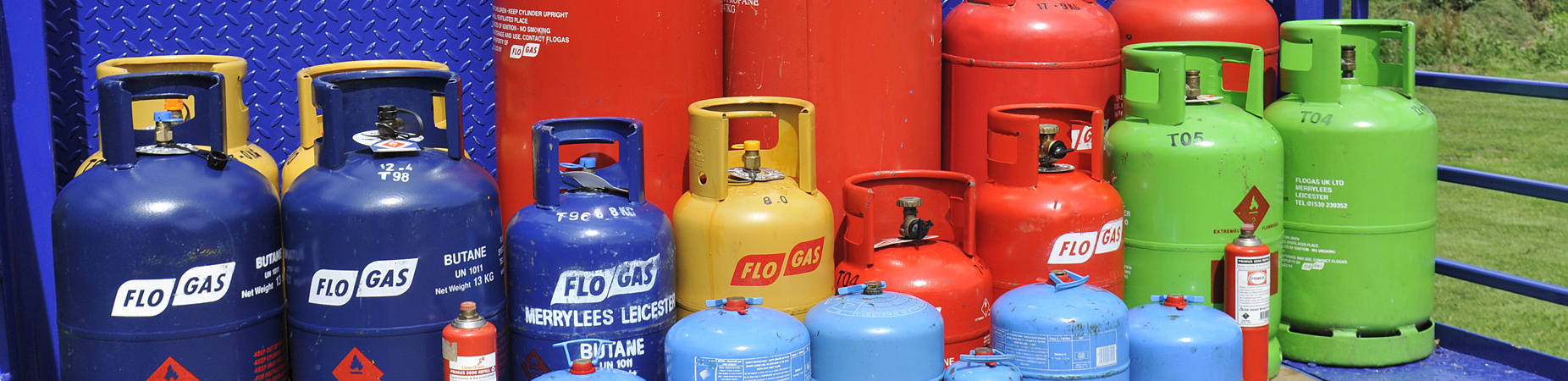 bottles of butane and propane gas - buy online from GSS Gas at www.gssgas.co.uk