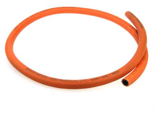8mm high pressure hose for propane and butane domestic gas connections